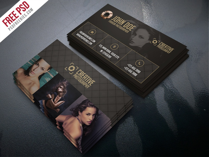 Freebie fashion photographer business card template psd by psd fashion photographer business card template free psd flashek Choice Image