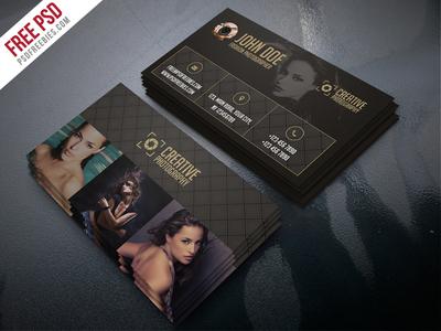 Freebie Fashion Photographer Business Card Template Psd By Psd