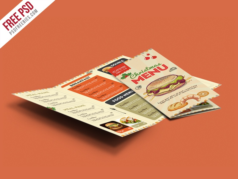 Freebie : Retro Restaurant Food Menu Brochure PSD by PSD ...