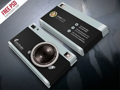 Freebie Photography Business Card Template Free PSD By PSD - Photography business card template