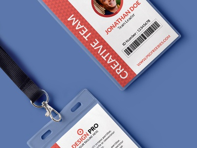 Free PSD : Office Identity Card Template PSD free psd freebie exclusive free psd id card company identity card corporate card free id card psd