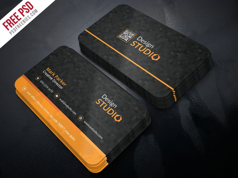 Free psd creative studio business card psd template by psd creative studio business card psd template wajeb
