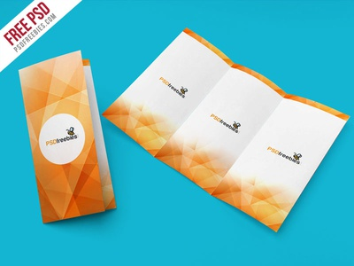 Free PSD Tri Fold Brochure Mockup PSD Template By PSD Freebies - Tri fold brochure psd template