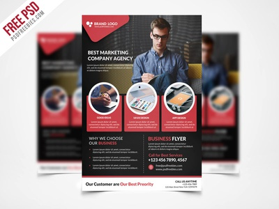 Free psd corporate business flyer template psd freebie by psd free psd corporate business flyer template psd freebie flashek Images