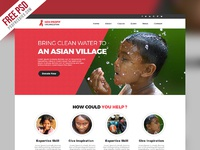 non profit organization website template free psd preview