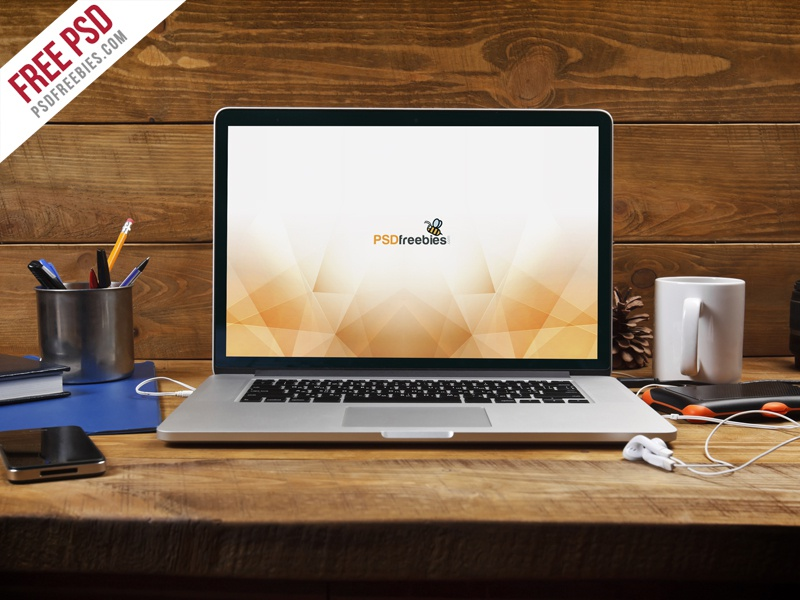 macbook pro psd mockup free