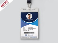 Free PSD : Corporate Office Identity Card Template PSD