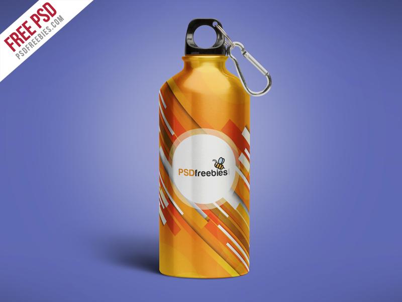 aluminum water bottle PSD freebies