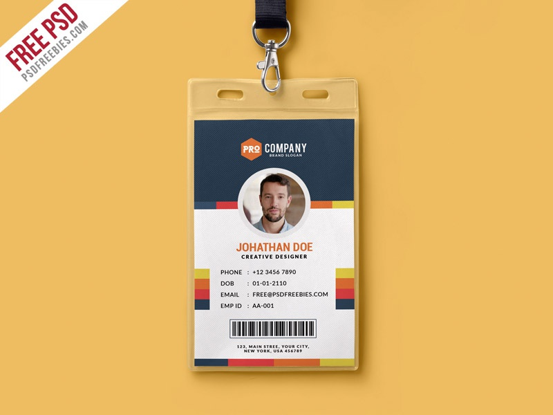 Free PSD : Creative Office Identity Card Template PSD By PSD Freebies    Dribbble