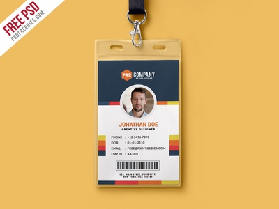 Free PSD : Creative Office Identity Card Template PSD by PSD ...