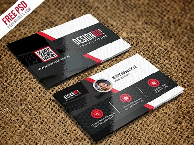 Free psd creative and modern business card template psd by psd free psd creative and modern business card template psd reheart Choice Image