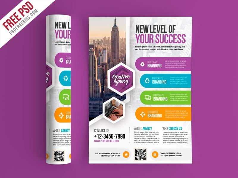Free psd multipurpose business flyer psd template by psd freebies multipurpose business flyer psd template flashek Choice Image
