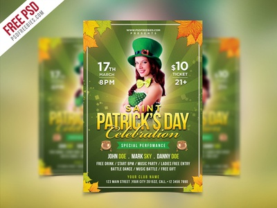 Free Psd Saint Patricks Party Flyer Psd Template By Psd Freebies