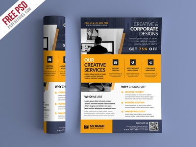 Free Psd Business Promotional Flyer Psd Template By Psd Freebies