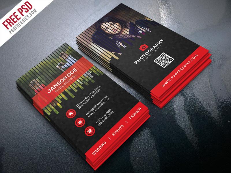 Free PSD : Professional Photographer Business Card Bundle By PSD Freebies