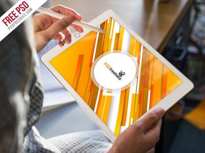Free PSD : iPad Pro Mockup Template Free PSD