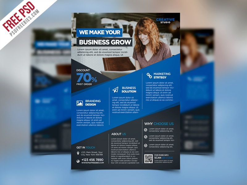free psd digital agency advertising flyer psd template by psd freebies dribbble. Black Bedroom Furniture Sets. Home Design Ideas