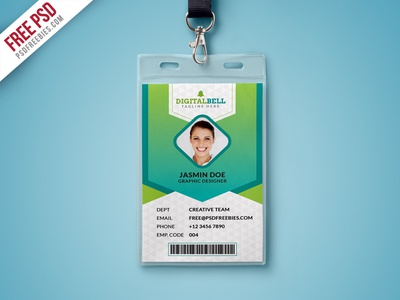 Free Psd  Multipurpose Photo Identity Card Template Psd By Psd