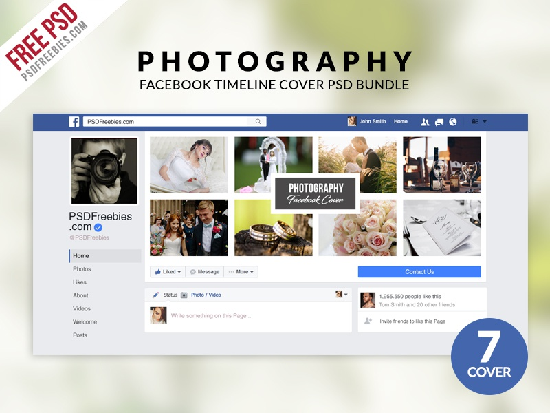 Free PSD : Photography Facebook Timeline Cover PSD Bundle