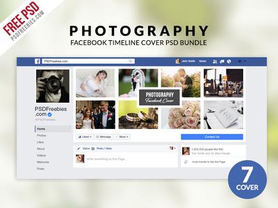 Free PSD : Photography Facebook Timeline Cover PSD Bundle