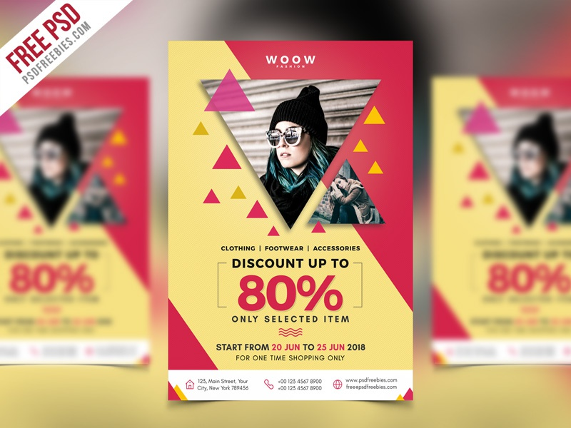 Free PSD : Fashion Sale Promotion Flyer PSD Template