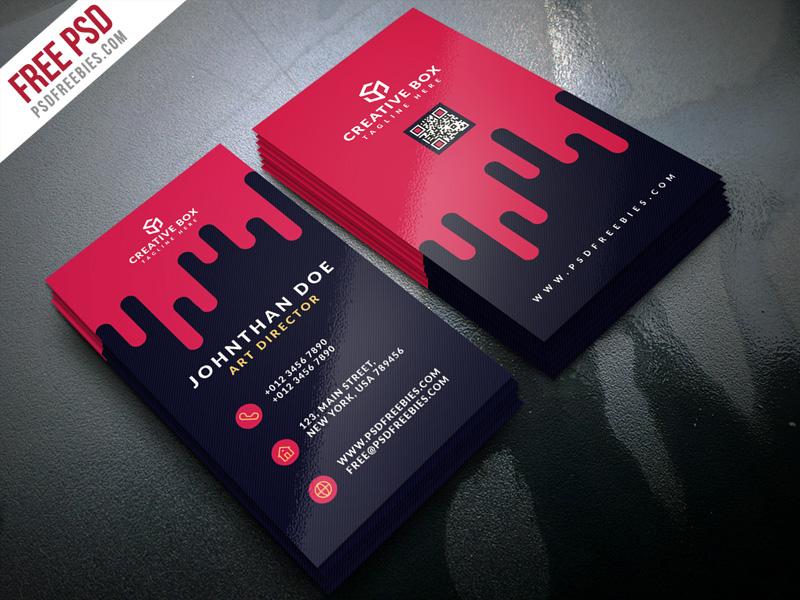 free psd  creative digital agency business card template