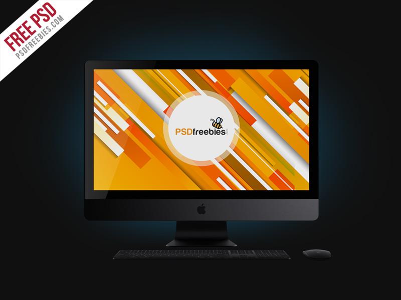 Free PSD : Apple iMac Pro Mockup Free PSD