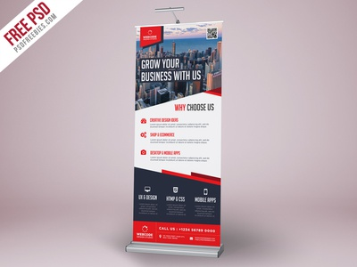 Free PSD : Corporate Advertisement Roll-Up Banner Template by PSD ...