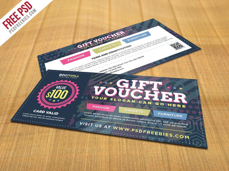 Free PSD : Multipurpose Gift Voucher PSD Template