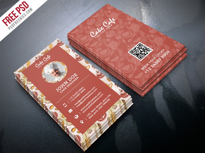 Free psd cake shop business card psd template by psd freebies cake shop business card psd template flashek