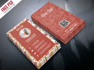 Free PSD : Cake Shop Business Card PSD Template