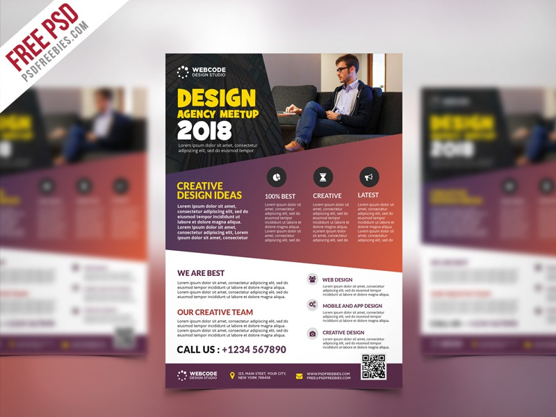 free psd   conference announcement flyer psd template by