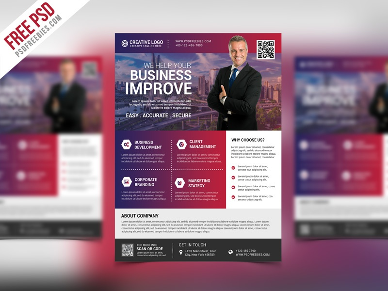 Free psd multipurpose creative business flyer psd template by psd multipurpose creative business flyer psd template flashek Choice Image