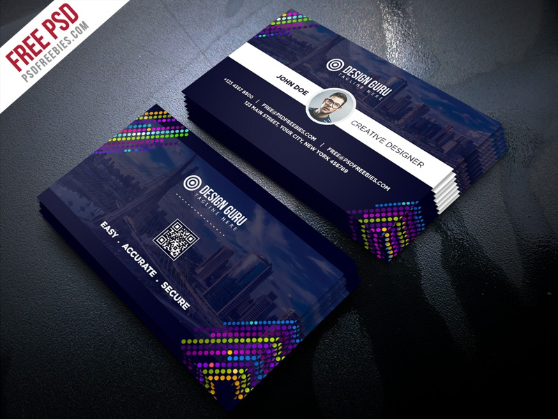 Free PSD : Creative Business Card Template PSD