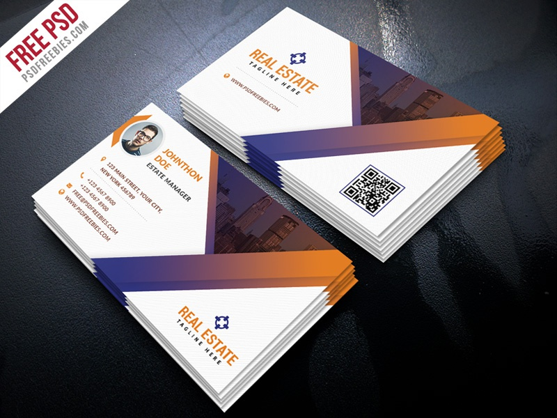 free psd real estate business card template psd by psd freebies