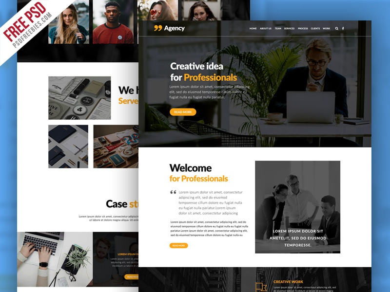 Free PSD : Personal Portfolio And Corporate Website Template
