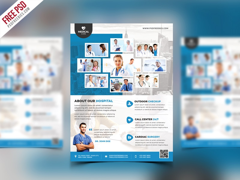 Free Psd Health Clinic And Hospital Flyer Psd Template By Psd