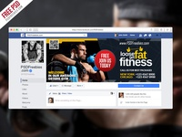 Free PSD : Gym Fitness Facebook Fanpage Cover Template