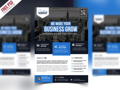 Free PSD : Premium Advertising Flyer PSD Template