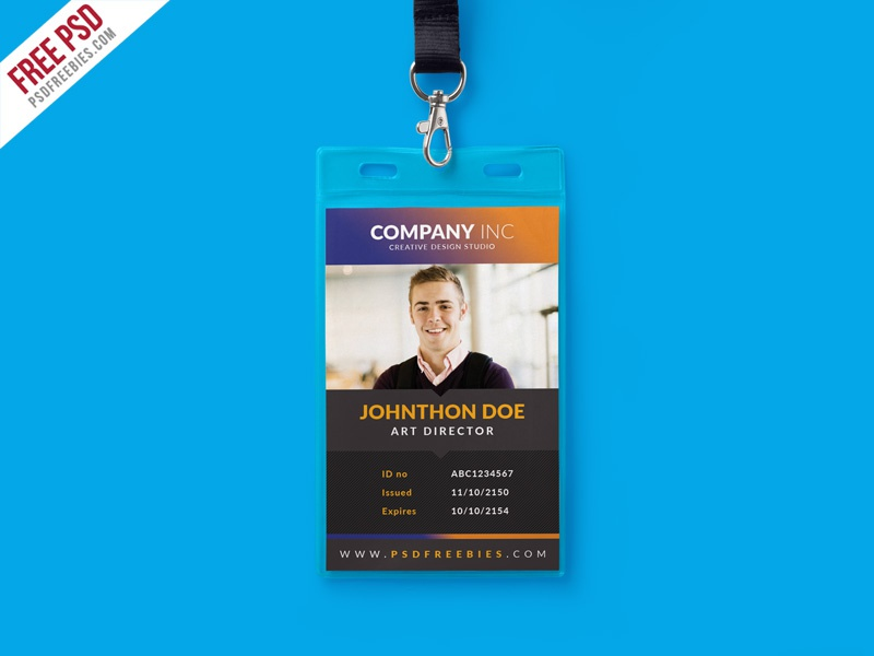 Free Creative Identity Card Design Template PSD