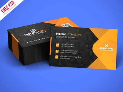 Free PSD Modern Corporate Business Card Template PSD By PSD - Business card templates psd