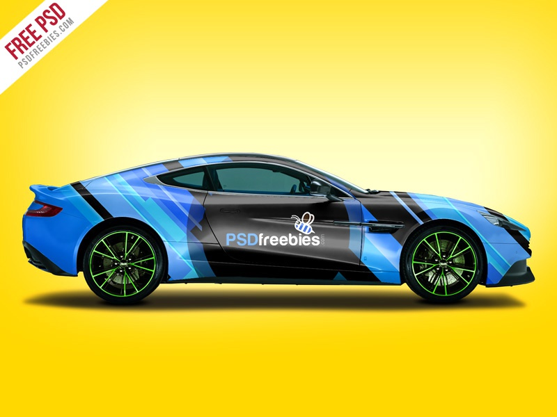 Aston Martin Car Branding Mockup Free PSD By PSD Freebies Dribbble - Aston martin walnut creek