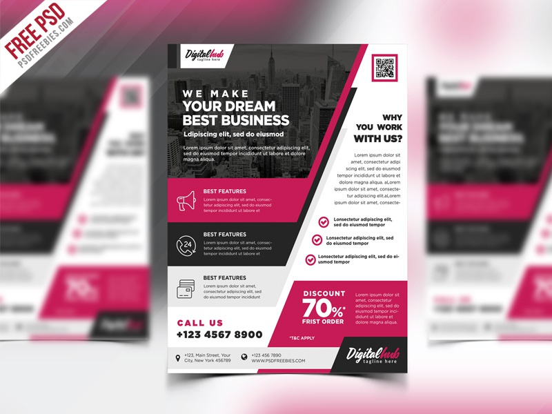 free psd multipurpose modern business flyer template by psd