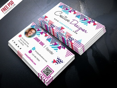 Free psd creative business card psd template by psd freebies free psd creative business card psd template fbccfo