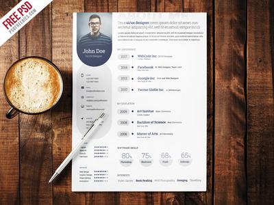 Freebie : Professional Resume Template Free PSD