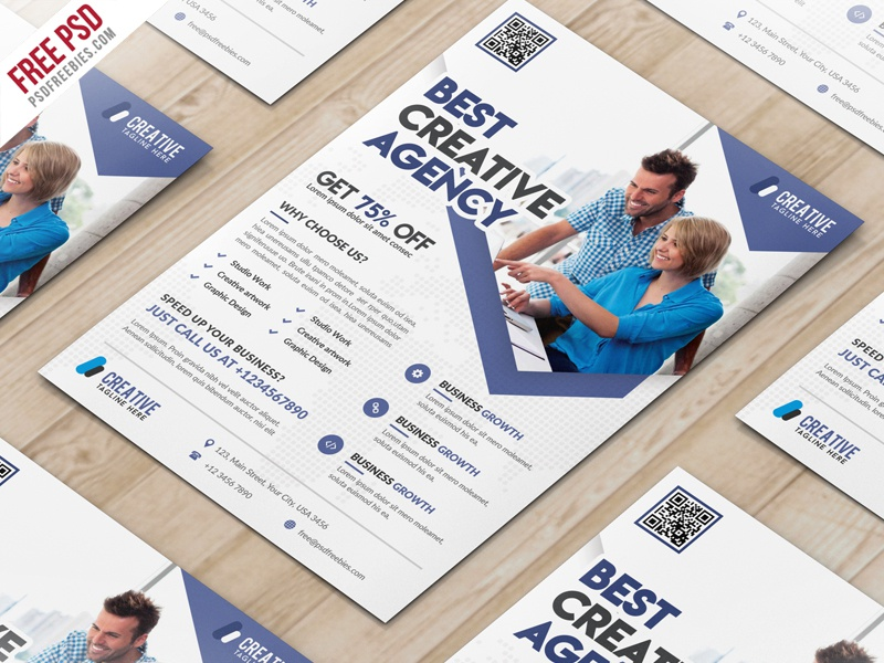 Freebie business marketing flyer free psd template by psd freebies business marketing flyer free psd template accmission Image collections