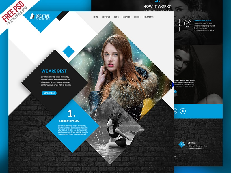 Freebie : Multipurpose Portfolio Website Template Free PSD