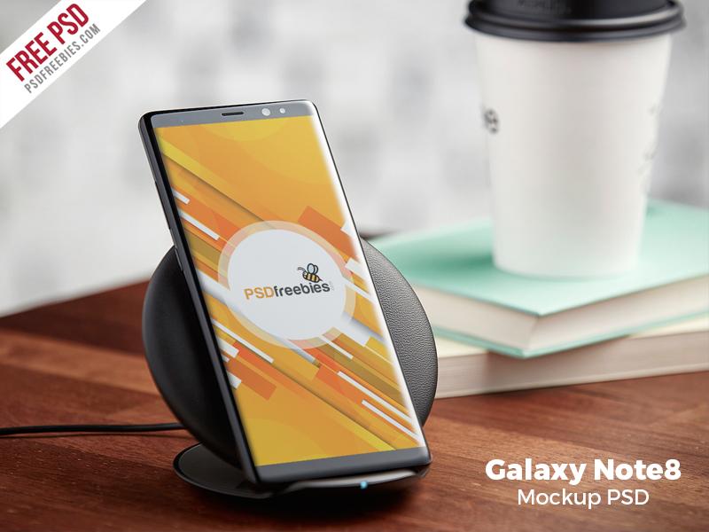 Free PSD : Samsung Galaxy Note 8 Mockup PSD