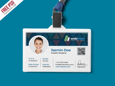 Free psd office id card design psd by psd freebies for University id card template