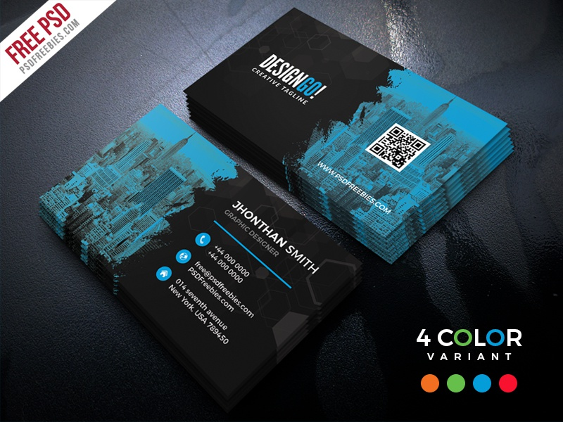 Free Corporate Business Card PSD Bundle By PSD Freebies